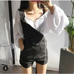 Read Shorts/jardineira 2 from the story Looks coreanos by (Nathalia) with 464 reads. looks. Korean Girl Fashion, Ulzzang Fashion, Asian Fashion, Teen Fashion, Fashion Outfits, Womens Fashion, Fashion Tips, Style Fashion, Grunge Style