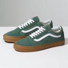 Low Top – Mens Vans Gum Old Skool Duck Green/Gum