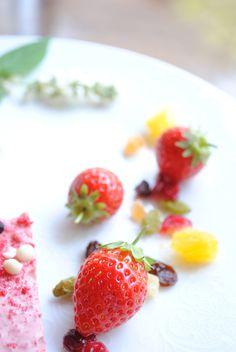 苺をドライフルーツと 一緒に。