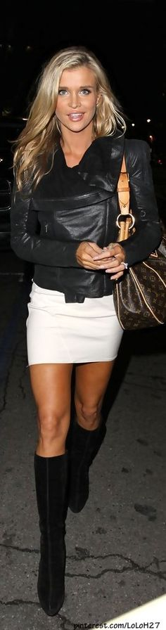 Joanna Krupa is one of those women who just looks good in anything she wears. Shorts and a tee shirt or jeans and flip flops.. One lucky bitch!! lol