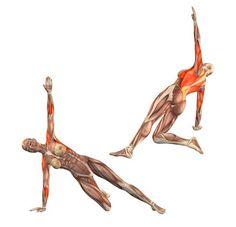 Half side plank pose on right hand - Vasisthasana half right - Yoga Poses… Kundalini Yoga, Yoga Meditation, Yoga Flow, Sport Fitness, Muscle Fitness, Yoga Fitness, Asana, Yoga Sequences, Yoga Poses