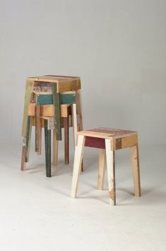 #furniture #wood #stools by Piet Hein Eek pietheineek.nl