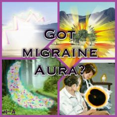 Some visual representations of migraine auras.