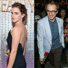 Tom Felton at the Beauty and the Beast premiere. With. A. Rose. Dramione feels!