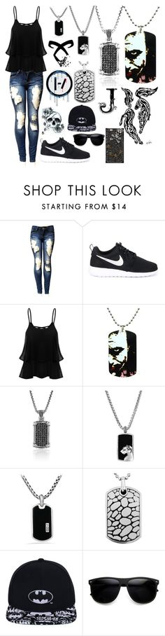 """""""Summer hang-out"""" by terrymakenzie on Polyvore featuring NIKE, Scott Kay, Effy Jewelry and David Yurman"""