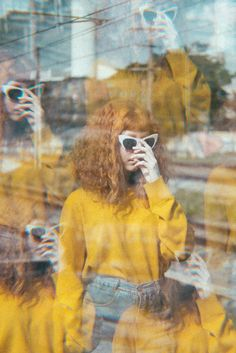 This image displays both repeated figure as well as blurred outlines to make the viewer feel like the picture is shaking Film Photography, Fashion Photography, Foto Art, Ap Art, Mellow Yellow, Double Exposure, Pretty Pictures, Art Direction, Psychedelic