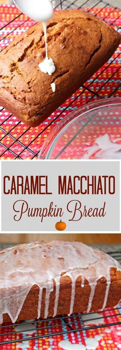Caramel Macchiato Pumpkin Bread  -  Fall is all about everything pumpkin and this pumpkin bread is over the top.  Caramel Macchiato flavor is infused both into the bread and the icing!  All you need now is a hot cup of coffee to go along side! #SplashOfDelight AD