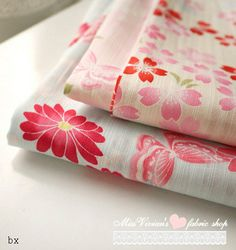 Japanese style 2 color choose Sakura Cotton fabric by vivianfabric, $5.75