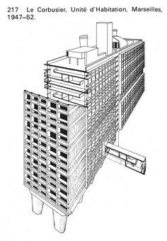 unite d 39 habitation marseilles france 1946 1952 le corbusier le corbusier pinterest le. Black Bedroom Furniture Sets. Home Design Ideas