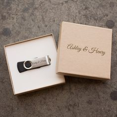 Love this idea... Instead of making several CDs for someone you can give them a personalized flash drive Personalized USB Flash Drive with Kraft Packaging 4gb, 8gb and 16gb