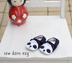 Wild Things Baby Shoes...cute wee pandas.