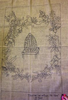 "Rug Hooking Pattern ""Could we live without the Bees"" by Priscilla DeBloom by thewoolfarm on Etsy https://www.etsy.com/listing/199353333/rug-hooking-pattern-could-we-live"