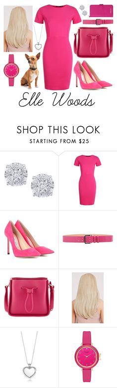 """Legally Blonde: Elle Woods"" by bstaudacher ❤ liked on Polyvore featuring Effy Jewelry, Boohoo, Jimmy Choo, Dsquared2, 3.1 Phillip Lim, Pandora and MICHAEL Michael Kors"