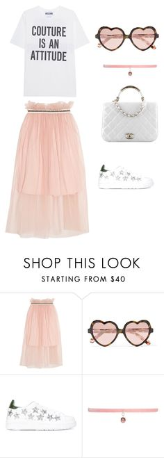 """Rosee"" by lauraa-rc25 on Polyvore featuring Mother of Pearl, Cutler and Gross, Chiara Ferragni, Joomi Lim, Chanel and Moschino"