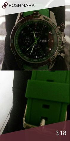 NWT MEN'S SPORTS WATCH WITH QUARTZ MOVEMENT Super sporty men's  watch with quartz movement.  Makes great first watch for teens! Brand new in package. Accessories Watches