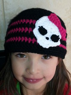 Monster High Inspired Beanie - Any size and colors   @Rhonda Nichols-Mahlum - would harley wear this?