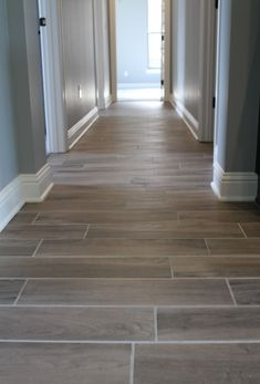 Wood-look tile details!  Looking for a durable floor that your family can really live on? Forget about furry paws and spilled drinks! Porcelain and ceramic tile can handle scratches and is non-porous.  🏠 : Sollevare Homes . . . #unitedtileco #sollevarehomes #porcelaintile #woodlook #scratchresistant #nonporous #durableflooring #productdetails #marazzi #norwood #oak #flooring #tilefloor #designdetails #preserveestates #bossiercity #newconstruction Wood Look Tile Floor, Ceramic Floor Tiles, Oak Flooring, Floors, Porcelain Ceramics, Porcelain Tile, Tile Patterns, House Rooms, Building A House