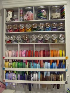ribbon storage roundup - A girl and a glue gun - I'm refreshing up my craft room (just wait and see tomorrow's post!