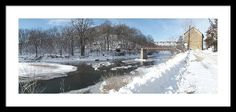 Motor Mill Winter Pano Framed Print By Bonfire #Photography