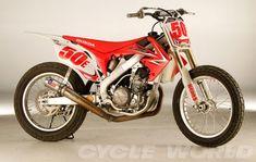 Dirt Track Racing- Honda CRF450R- Cycle World Project Dirt Track Racer   Cycle World