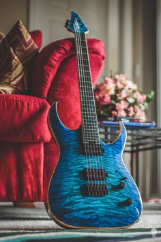Jackson Custom Shop 6. Love the colour. This would be my designated guitar for anything to do with distortion.