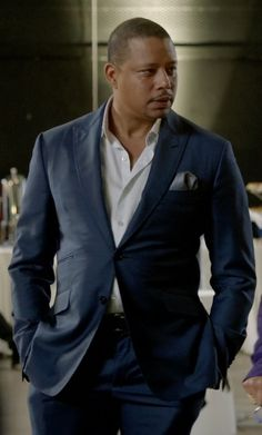 Lucious Lyon's Blue Huntsman Slim-Fit Wool Suit from Empire ...