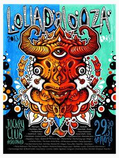 Lollapalooza SP13 - Website: Urban Arts // Artista: Guto Reiiz