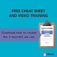 FREE CHEAT SHEET & VIDEO TRAINING Reveals the 3 Secrets We Use to Create Websites that Get Clients on Autopilot: http://bit.ly/2r5IxdN