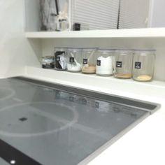 キッチン収納★スパイスニッチ(キッチンニッチ)が便利。高さにあった調味料瓶はこれ!|目指せフレンチシック・オシャレな家づくり Bathroom Medicine Cabinet, Kitchen Design, House, Kitchens, Creative, Design Of Kitchen, Home, Kitchen, Cuisine