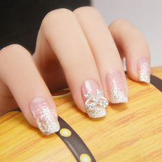 An individual can do up her nails sitting at home working with the typical manicure kit easily readily available to the majority of us. Burgundy nails look especially impressive with the most suita… Bridal Nails, Wedding Nails, Nail Polish Designs, Nail Art Designs, Cute Nails, Pretty Nails, Hair And Nails, My Nails, Rainbow Nails