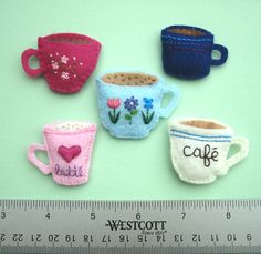 felt coffee mug magnets