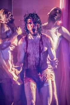 Game of Thrones' Kit Harington is bloody scary in this first picture from Doctor Faustus     OMFG!!!! Thanks!! @kitharingtonfanfiction NO WORDS!!!!