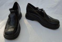 Clarks Black Leather Platform Style Mary Janes Size 9 M http://www.ebay.com/itm/370963438640?ssPageName=STRK:MESELX:IT&_trksid=p3984.m1555.l2649