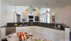 This open kitchen overlooks the great room. The Hartwell #1221