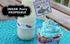 SHARK Party Printable Fun