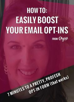 How to boost your email opt-ins and grow your email list by creating a professional opt-in box in your sidebar. (Takes less than 7 minutes, and no coding required!)
