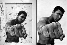 "Mohammed Ali, photo by Thomas Hoepker Il ritocco fotografico ""artigianale"""