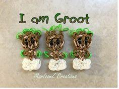 Rainbow Loom Groot - Guardians of the Galaxy - I am Groot - YouTube