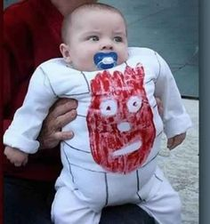 Wilson from Cast Away   22 Amazing Kids' Halloween Costumes That They're Too Young To Understand