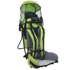 Camping Bags : Backpack and accessories :Baby Back Pack Cross Country Carrier Stand Child Kid Sun Shade Visor Green *** Don't get left behind, see this great product Baby Hiking Backpack, Baby Rucksack, Hiking Baby Carrier, Best Baby Carrier, Camping In Georgia, Backpack Reviews, Thing 1, Kids Backpacks, Cross Country