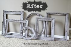 How to distress any frame (even plastic ones!) with Vaseline - Bless'er House