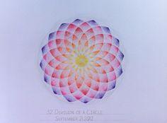 Waldorf ~ 6th grade ~ Geometric Drawing ~ 32 Division of Circle ~ main lesson book