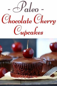 "The BEST Chocolate Cherry Cupcakes. These easy to make Paleo Dark Chocolate Cherry Cupcakes ""aka black forest cupcakes"" are incredibly moist and fluffy, filled with sweet fresh cherries, and topped with an amazingly delicious paleo chocolate ganache. We used almond flour and coconut flour making it a delicious grain free summertime treat!! { Grain free, dairy free, paleo, soy free, gluten free} #blackforestcupcakes #paleocupcakes #cupcakes #glutenfreeanddairyfree #grainfreecupcakes…"