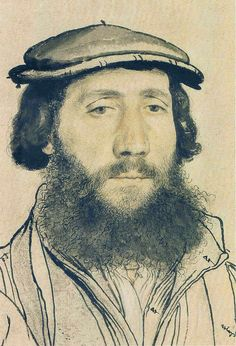 Drawing Man Hans Holbein the younger - Unknown man - Unknown man Windsor Castle, Royal Collection Renaissance Portraits, Renaissance Art, Alphonse Mucha, Hans Holbein Le Jeune, Trois Crayons, Hans Holbein The Younger, Landsknecht, Gravure, Pablo Picasso