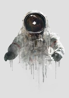 Astronaut II Art Print by Daniel Taylor