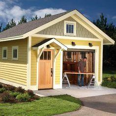 Diy Shed Plans, Storage Shed Plans, Built In Storage, Barn Plans, Garage Storage, Diy Storage, Garage Shed, Garage Plans, Garage Ideas