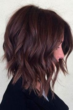 Dark Color Trendy Medium Length Haircuts With Layers ? Stylish Medium Length Layered Haircuts That Will Blow Your Mind! : Dark Color Trendy Medium Length Haircuts With Layers ? Stylish Medium Length Layered Haircuts That Will Blow Your Mind! Inverted Bob Haircuts, Medium Bob Hairstyles, Straight Hairstyles, Stylish Hairstyles, Layered Hairstyles, Short Haircuts, Wavy Inverted Bob, Ladies Hairstyles, Hairstyles 2016