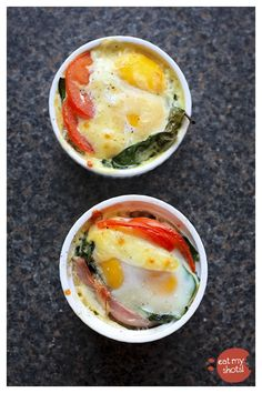 Baked eggs are a great way to start your day...or finish it...or anytime in between
