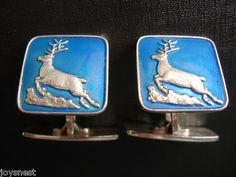 Vintage David Anderson Enamel Cufflinks Norway 925 | eBay