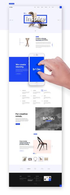 Boiler - Creative Agency PSD Template -----------------------------------------------------We present you a modern and simple design,with unique elements, ideal for an open-minded business. Using the star color of the season, electric blue, this theme i…